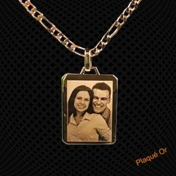 Pendentif Plaqué Or Rectangle