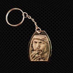 Porte-clés Médaillon Ovale coupé