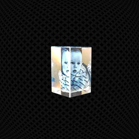 Bloc de verre 3D 8cm