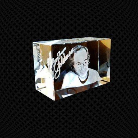 Bloc de verre 3D 12cm
