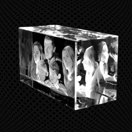 Bloc de verre 3D 18cm