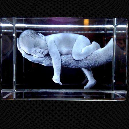 Bloc de verre 3D 20cm