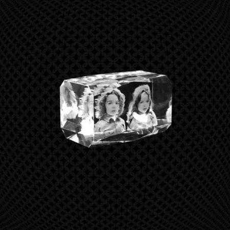 Bloc de verre 3D biseauté 10cm