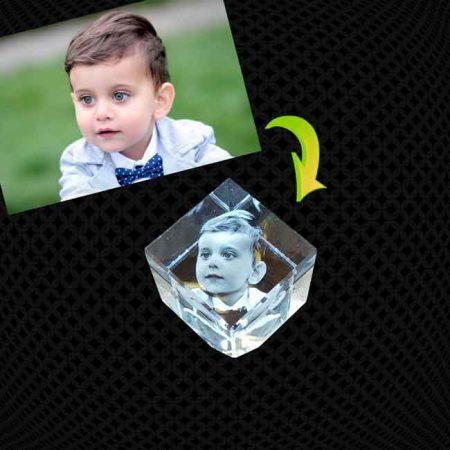 Cube Pan Coupé de verre 3D 5cm