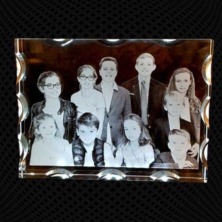Grand cadre en verre alvéolé gravure 2D 20cm