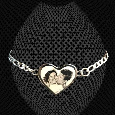 Bracelet Chaînette Coeur à graver