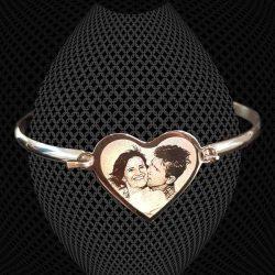 Bracelet Grand Jonc Coeur à graver