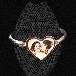 Bracelet Petit Jonc Coeur à graver