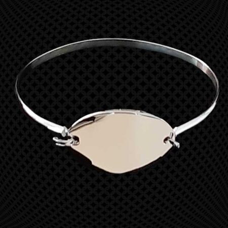 Bracelet Grand Jonc medaillon ovale à graver
